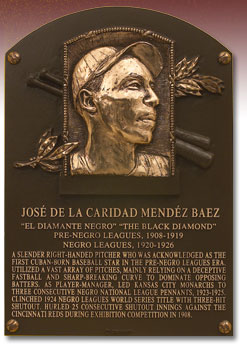 Mendez HOF Plaque