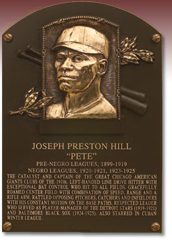 Pete Hill_HOF plaque