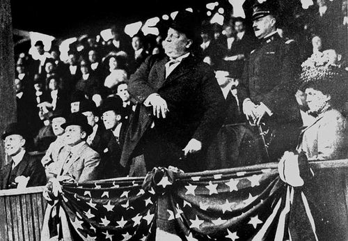 Taft Throwing Out First Ball