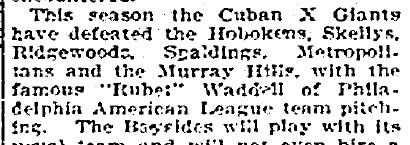 Cuban X Giants_Waddell_1903