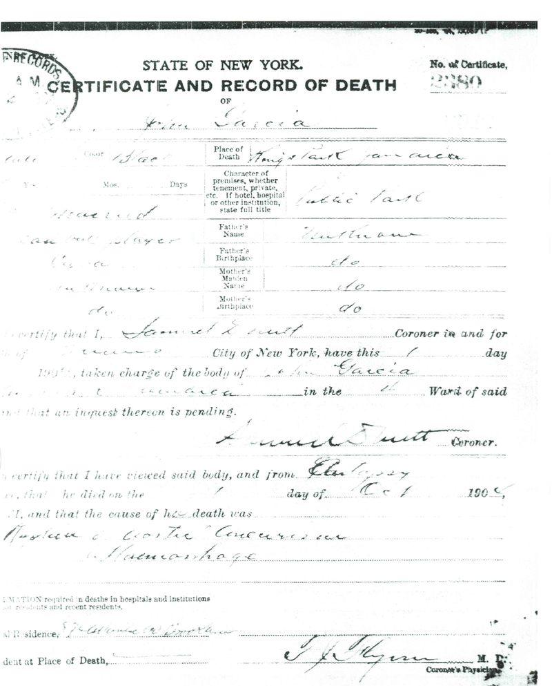 John Garcia_Death Certificate