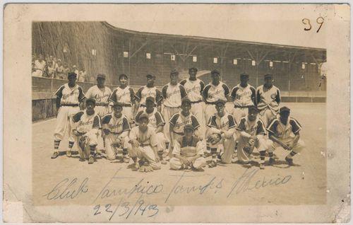 1943 Alijadores de Tampico team photo (front)