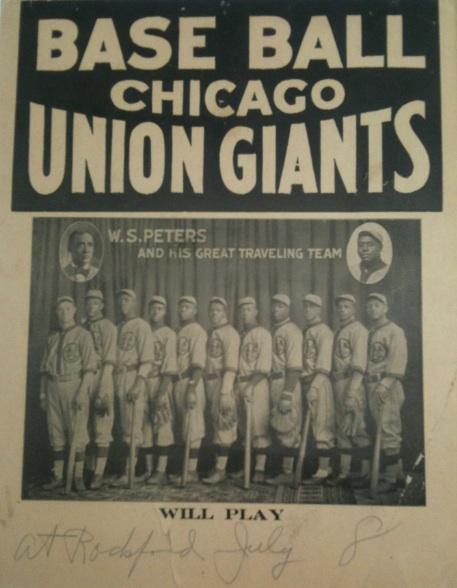 Chicago Union Giants Broadside