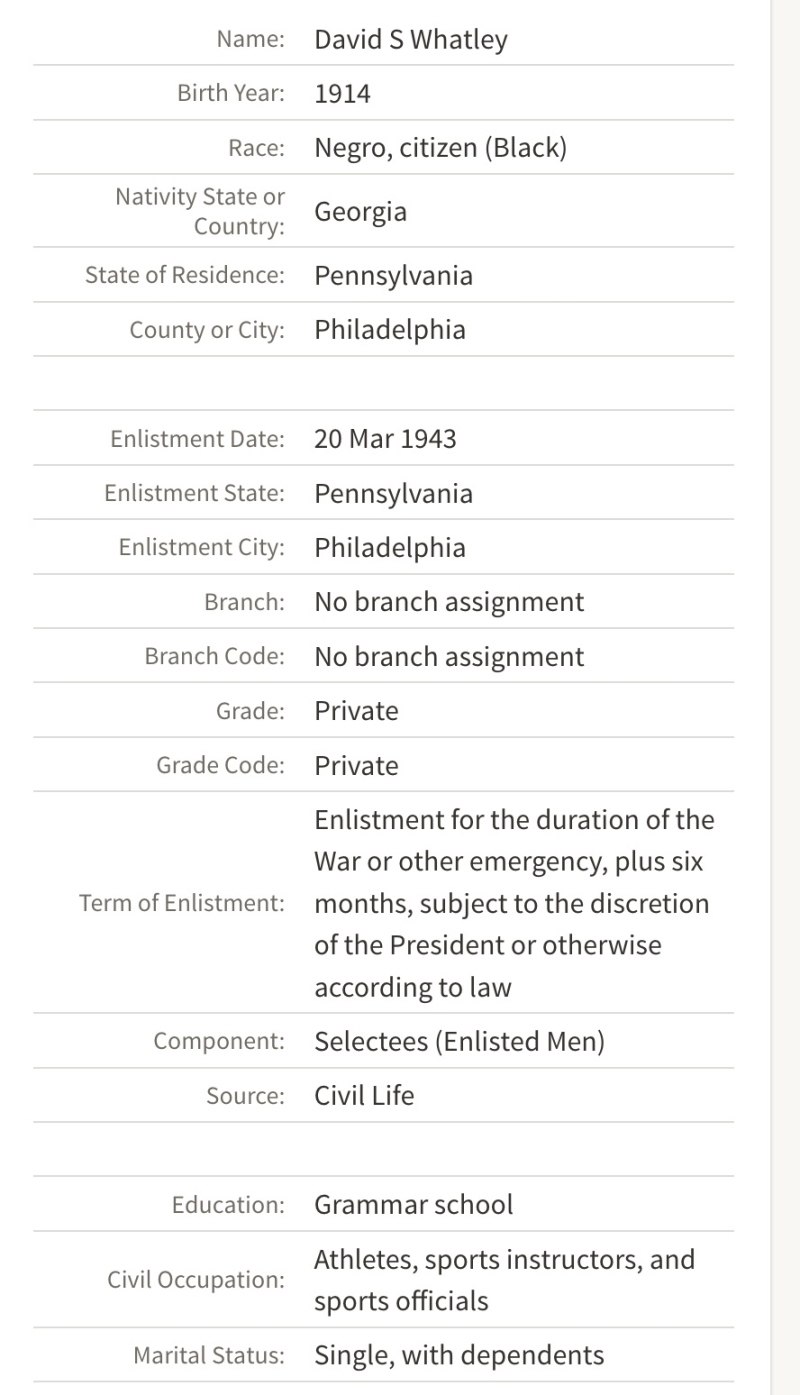 US World War II Army Enlistment Records