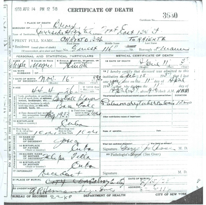 Torriente_death certificate