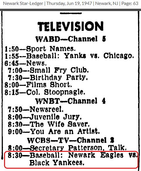 NewarkBlackYankees-TV-1953JUN19