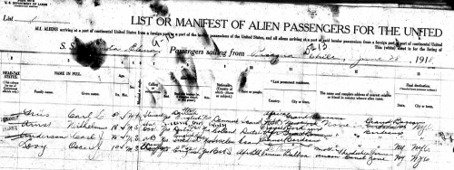 Levy_Passenger List_1918-1